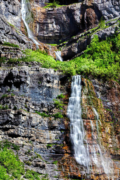 Photograph - Bridal Veil Falls Provo Utah by David Millenheft