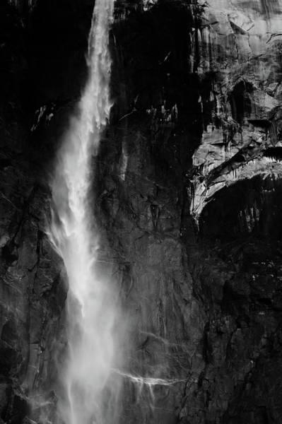 Photograph - Bridalveil Fall Black White by Kyle Hanson