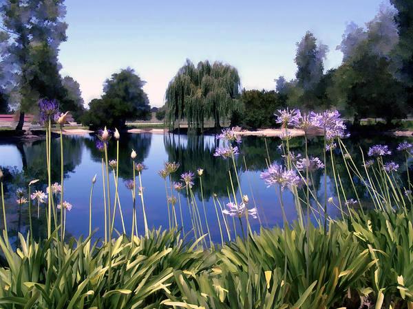 Photograph - Briddlewood Vineyards Pond by Kurt Van Wagner