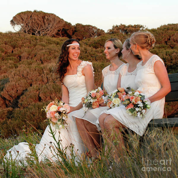 Photograph - Bride And Bridesmaids by Rick Piper Photography