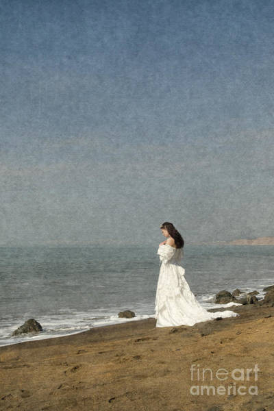 Bride By The Sea Art Print