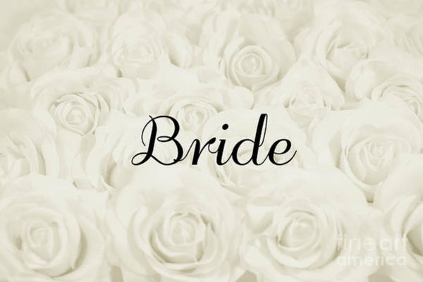 Wall Art - Photograph - Bride Floral Design- Cream White by Lucid Mood