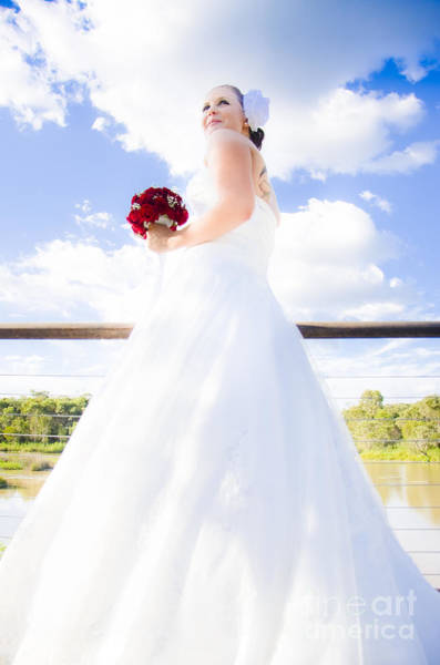 Photograph - Bride In White Wedding Dress by Jorgo Photography - Wall Art Gallery