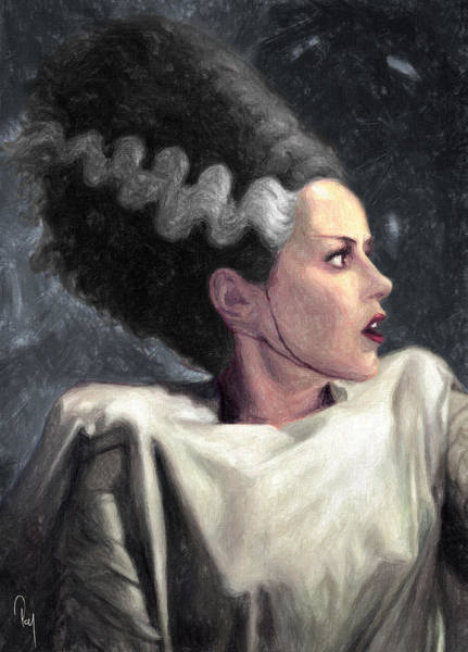 Dracula Painting - Bride Of Frankenstein by Zapista Zapista