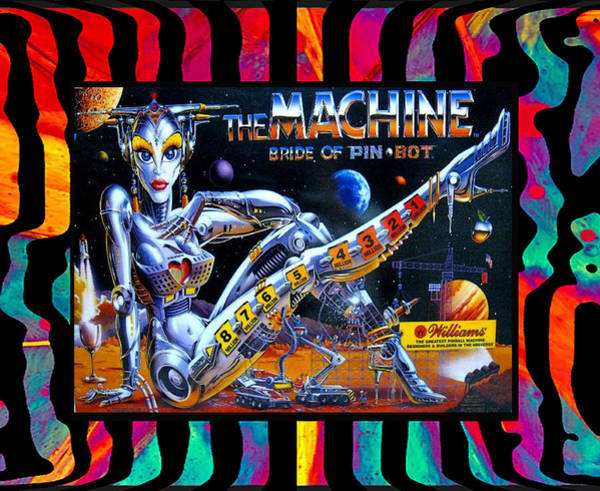 Pinball Digital Art - Bride Of Pinbot by Ja Don