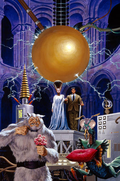 Summoning Wall Art - Painting - Bride Of The Castle by Richard Hescox