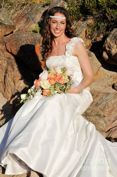 Photograph - Bride On The Rocks by Rick Piper Photography