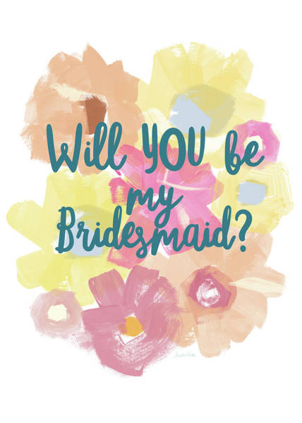 Wedding Painting - Bridesmaid Floral- Art By Linda Woods by Linda Woods
