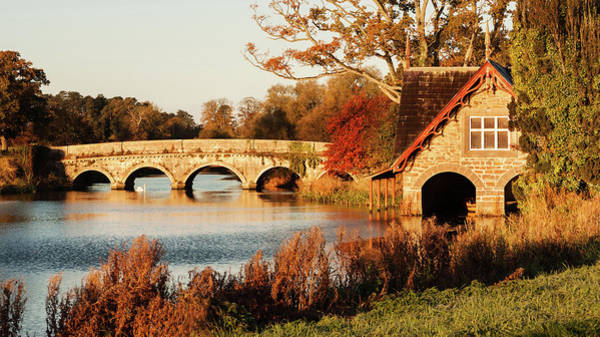 Maynooth Photograph - Bridge And Boat House On The Rye Water - Maynooth, Ireland by Barry O Carroll