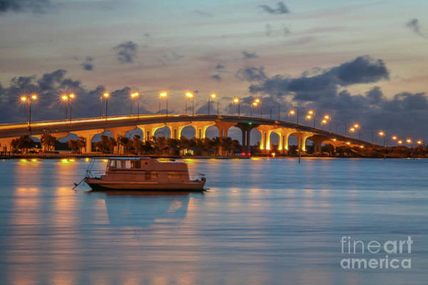 Photograph - Bridge And Calm Water by Tom Claud