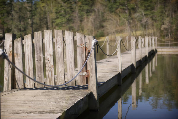 Deck Digital Art - Bridge And Gate by Michelle Shockley