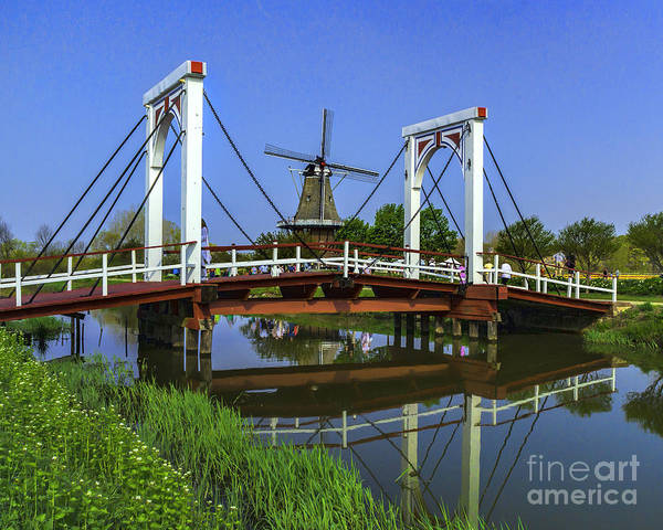 Wall Art - Photograph - Bridge And Windmill by Nick Zelinsky