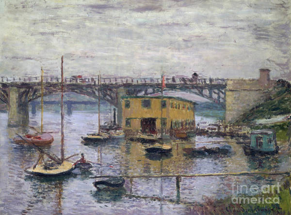 Wall Art - Painting - Bridge At Argenteuil On A Gray Day, 1876 by Claude Monet