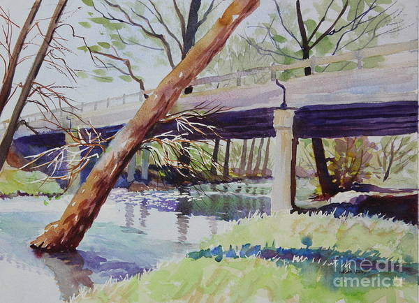 Central Texas Painting - Bridge At Camp Verde by Marsha Reeves
