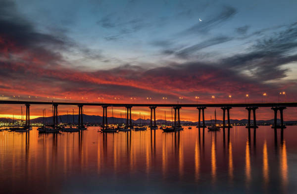 Photograph - Bridge At Dawn by TM Schultze