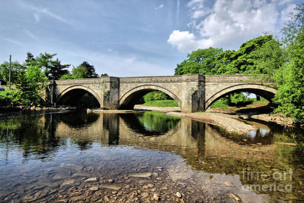Yorkshire Wall Art - Photograph - Bridge At Grinton by Smart Aviation