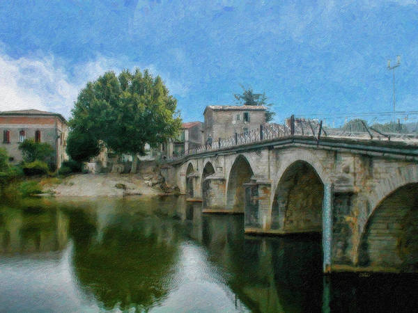 Painting - Bridge At Quissac - P4a16005 by Dean Wittle