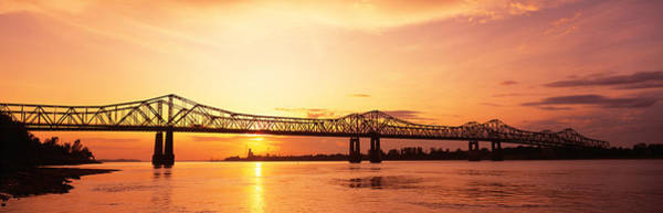 Wall Art - Photograph - Bridge At Sunset, Natchez, Mississippi by Panoramic Images