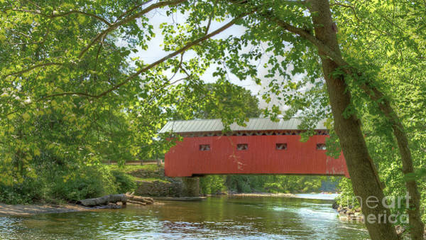Photograph - Bridge At The Green - Widescreen by Rod Best