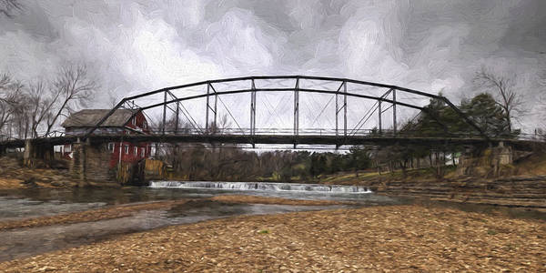 Painting - Bridge At The Mill by Joe Sparks