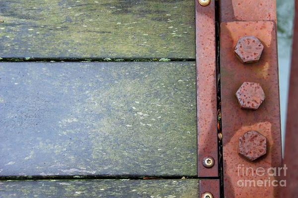 Photograph - Bridge Bolts Abstract by Karen Adams