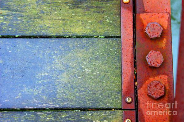 Photograph - Bridge Bolts Bright by Karen Adams
