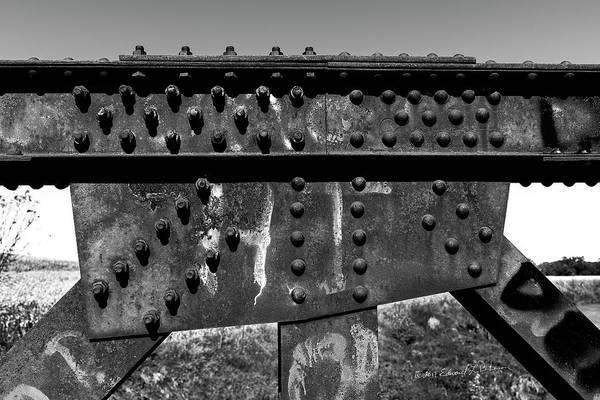 Photograph - Bridge Construction by Edward Peterson