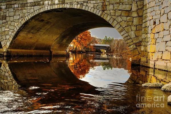 Henniker Photograph - Bridge Frame by Steve Brown