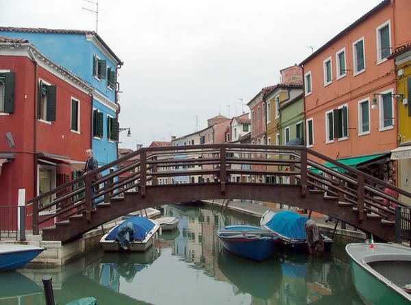 Wall Art - Photograph - Bridge In Burano Italy by Mindy Newman