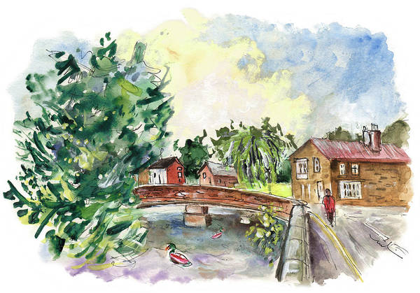Wall Art - Painting - Bridge In Great Ayton by Miki De Goodaboom