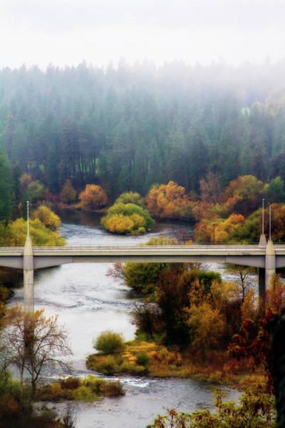 Spokane Digital Art - Bridge In Spokane by Terry Davis