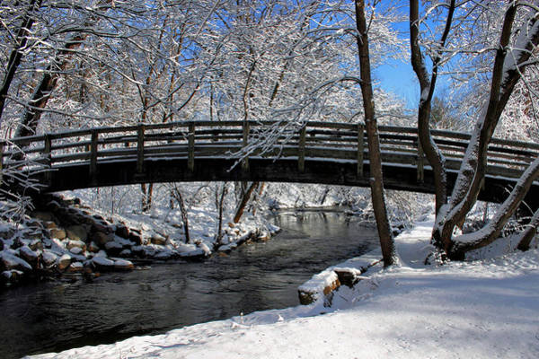 Photograph - Bridge In Winter by Kristin Elmquist