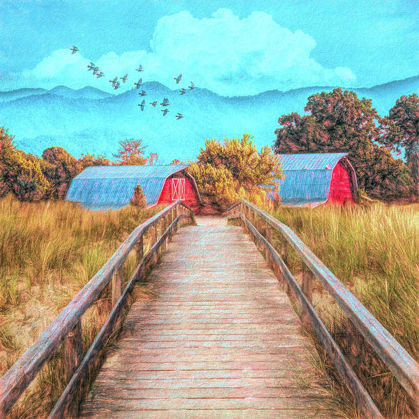 Wall Art - Photograph - Bridge Into The Country by Debra and Dave Vanderlaan