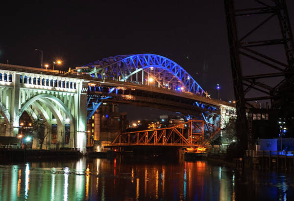 Photograph - Bridge Lights by Stewart Helberg