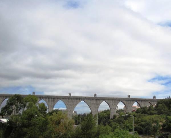Photograph - Bridge Near Cascais Portugal by John Shiron