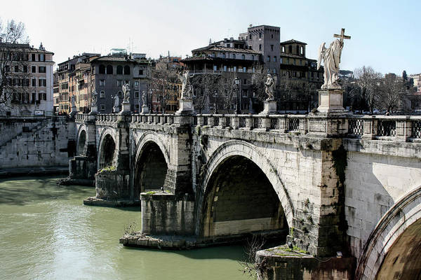 Wall Art - Photograph - Bridge Of Angels - Rome by Daniel Hagerman
