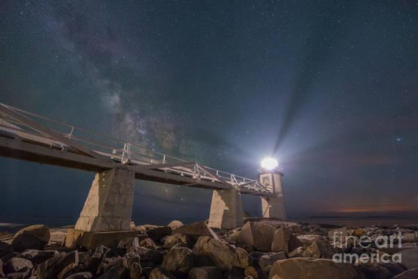 Marshall Point Lighthouse Photograph - Bridge Of Light  by Michael Ver Sprill