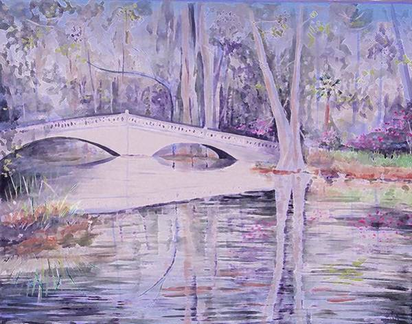 Bridge Of Magnolia Gardens Art Print
