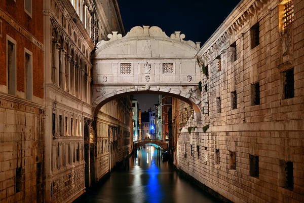 Photograph - Bridge Of Sighs At Night by Songquan Deng