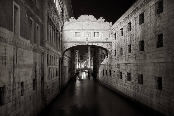 Bridge Of Sighs In The Night Art Print