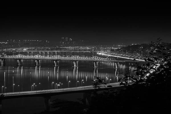 Wall Art - Photograph - Bridge On Han River by Hyuntae Kim