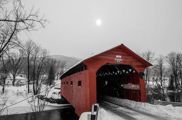 Arlington County Photograph - Bridge On The Green, Arlington Vermont by Bob Cuthbert