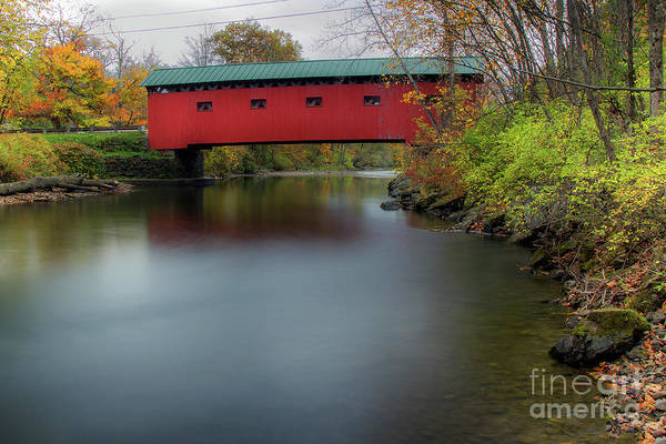 Photograph - Bridge On The Green - Fall Version by Rod Best