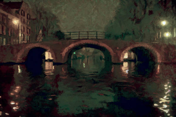 Bridge Over Amsterdam Canals Art Print