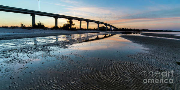 Port St. Joe Photograph - Bridge Over Beach, Port St Joe, Florida by Twenty Two North Photography