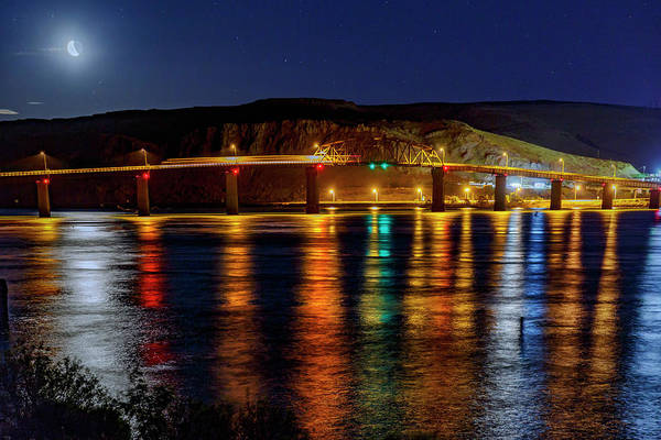 Wall Art - Photograph - Bridge Over Columbia Waters by Cat Connor