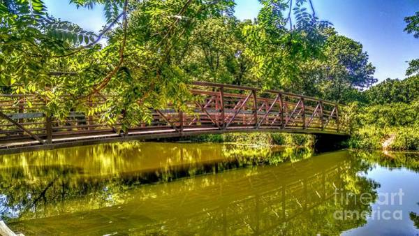 Photograph - Bridge Over Delaware Canal At Colonial Park by Christopher Lotito