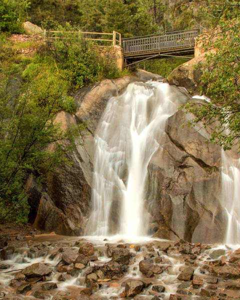 Helen Hunt Falls Photograph - Bridge Over Helen Hunt Falls by Lois Lake