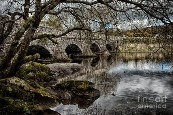 Hanging Rock Photograph - Bridge Over Llyn Padarn by Amanda Elwell