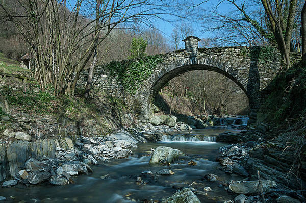 Photograph - Bridge Over Peaceful Waters - Il Ponte Sul Ciae' by Enrico Pelos